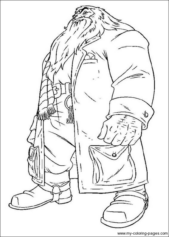 Hagrid harry potter coloring pages