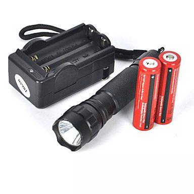 +WF-501b+u2+Cris+XM-L+u2+1200+lumens+lampe+led+++2+x+18650+3000mah+Batterie+++Chargeur+–+EUR+€+9.59