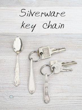 Besteck-Schlüsselanhänger - Silverware key chain - DIY tutorial in English and German