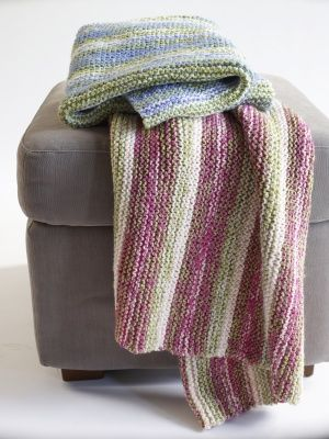 Knitting Patterns Using Baby Yarn : Color Inspiration :: This is a KNIT blanket pattern from Lion Brand. I like t...