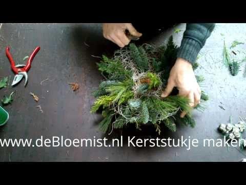 Kerststukje maken - YouTube