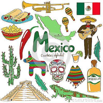 Collection d icônes du Mexique
