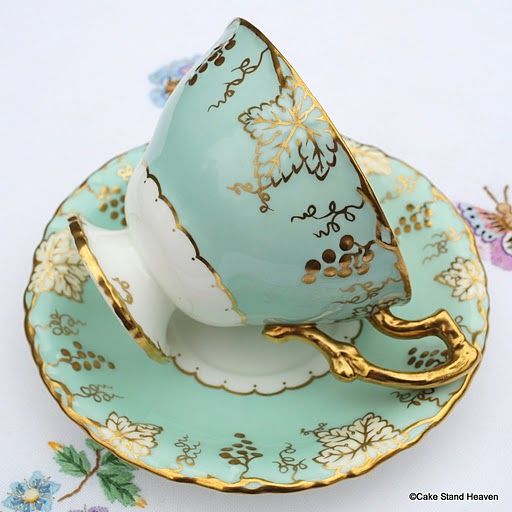 Royal Crown Derby 'Vine' Vintage China Teacup and Saucer                                                                                                                                                     More