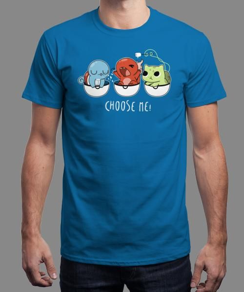 """Choose me!"" is today's £8/€10/$12 tee for 24 hours only on www.Qwertee.com Pin this for a chance to win a FREE TEE this weekend. Follow us on pinterest.com/qwertee for a second! Thanks:)"