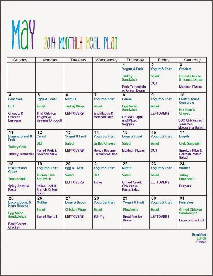 De 25+ bedste idéer inden for Monthly meal planning på ...