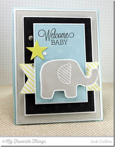 Beautiful Baby stamp set and Die-namics, Diagonal Stripes Background, Star Background, Fishtail Flags STAX Die-namics, Stitched Rectangle STAX Die-namics, Swiss Dots Die-namcis - Jodi Collins #mftstamps