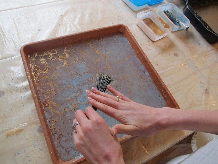 Calico Wallpaper Process at Villa Lena in Italy, Photograph via Sight Unseen