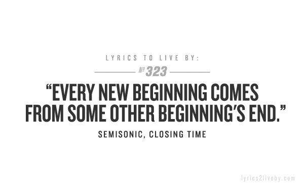 lyrics to live by!