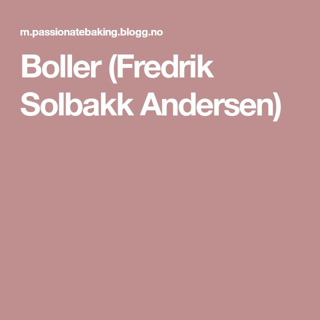 Boller (Fredrik Solbakk Andersen)