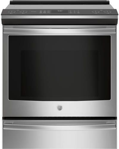 GE PHS930SLSS 30 Inch Slide-In Induction Range with WiFi Connect, True Convection Oven, Glide Touch Controls, Fast Preheat, Chef Connect, Storage Drawer, 2 Synchronized Elements, Auto Self Clean, ADA Compliant, Star-K Certified and 5.3 cu. ft. Total Capacity