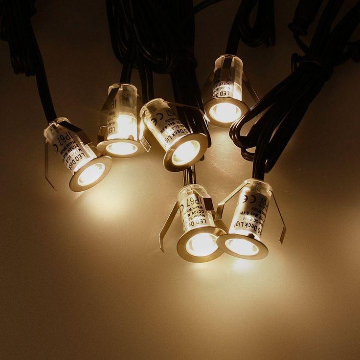marsboy 10er LED mini Bodeneinbaustrahler Bodeneinbauleuchte Strahler Einbauleuchte Bodenleuchte Einbaulampe Garten energiesparend Aussen LED Set IP67 Wasserdicht Leuchte Warmweiß.: Amazon.de: Beleuchtung