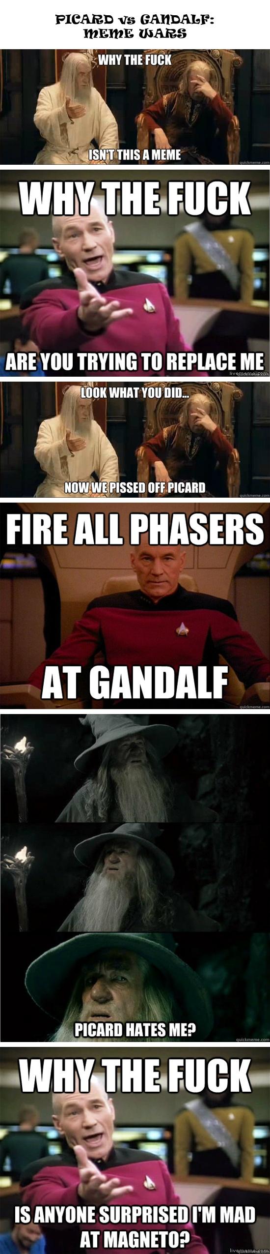 Picard vs Gandalf: Meme Wars!