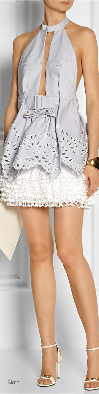 Alexander McQueen Tiered eyelet halter dress | The house of Beccaria~