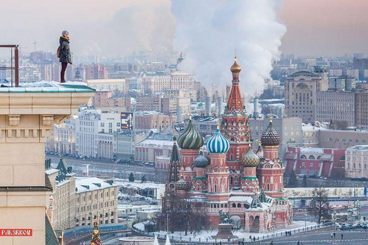 Meet Angela Nikolau - a Russian self-taught photographer who takes the most dangerous selfies ever.