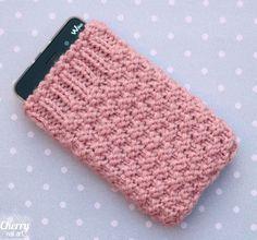 housse-téléphone-tricot-point-blé-double