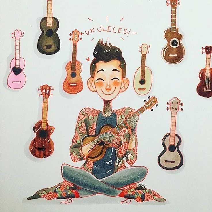 I actually drew a pastel ukulele for an art project, it was great