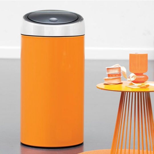 Oxo Stainless Steel Trash Can: Beyond Stainless Steel: Colorful Kitchen Trash Cans From