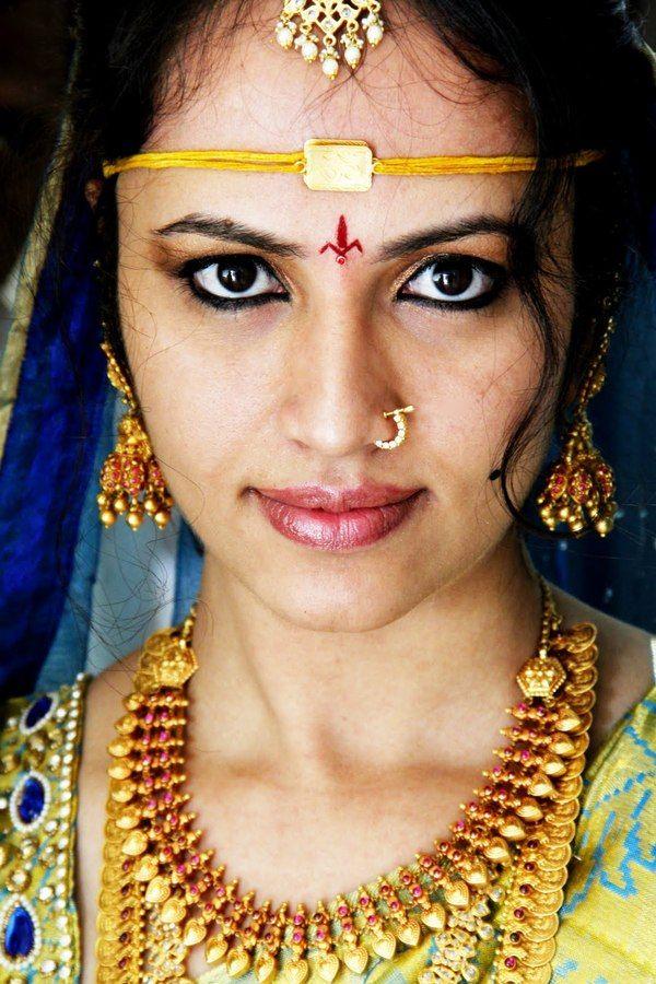 South Indian,Telugu bride. Temple jewelry. Jhumkis.Gold silk kanchipuram sari.Braid with fresh flowers. Tamil bride. Telugu bride. Kannada bride. Hindu bride. Malayalee bride.Kerala bride.