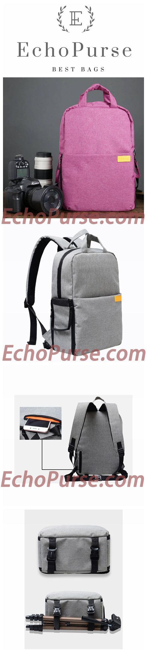 Professional Outdoor Photography Bag, Red Multifunctional Camera Backpack, Micro-Camera Pouch B530