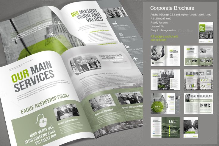 Corporate Brochure Vol. 2 by MrTemplater on @creativemarket