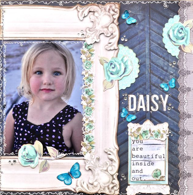 A layout by Kelly-ann Oosterbeek, made using the Blue Bay paper collection from Kaisercraft. www.amothersart.com.au