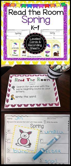 Read and Write the Room: Spring | Writing Center | PreK | Kindergarten