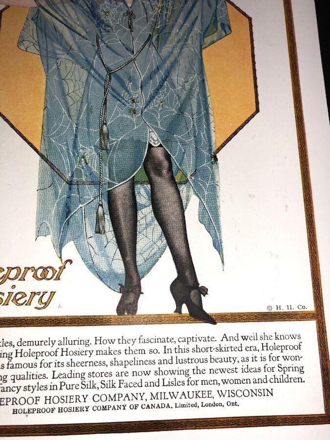 0388f2cf74c43 Holeproof Hosiery Orig Ad C 1920 pretty Flapper Girl Coles Phillips Sexy  Legs#Ad#