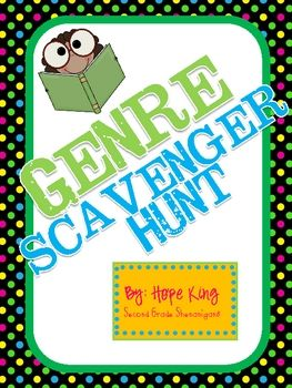 This activity is the perfect way to complete any genre study. It includes all of the resources that you will need to send your students on a scaven...