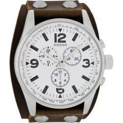 OOZOO Timepieces Brown Leather Strap C6440