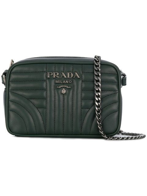 926e5347448fb4 Prada Quilted Logo Crossbody Bag - Farfetch | Winter 2018 ...