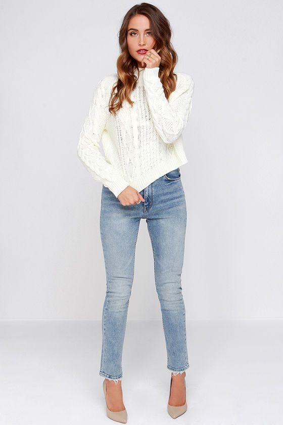 RES Denim Wanda Light Wash High Rise Straight Cut Jeans at Lulus.com!