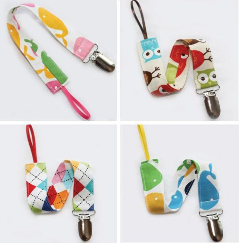 pacifier holders - I wonder how they'd hold up compared to the ones we made @Melissa Squires Mott
