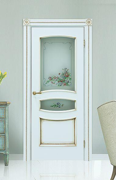 Межкомнатная дверь «Флоренция». Отделка «прованс бирюза» #дверирулес #двери #межкомнатные #interiordoor