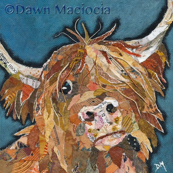 Angus - Mounted Giclee Print by DawnMaciociaArt on Etsy https://www.etsy.com/uk/listing/211173945/angus-mounted-giclee-print