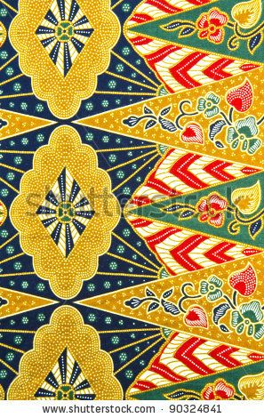 Batik design in traditional concept.