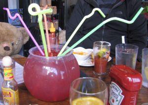 The Nook Atlanta Boozy Fish Bowl