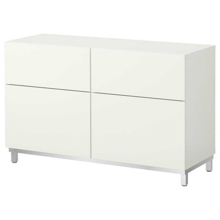 BESTÅ Storage combination w doors/drawers - Vara white - IKEA 47 1/4 X 15 3/4 X 29 1/8  $179