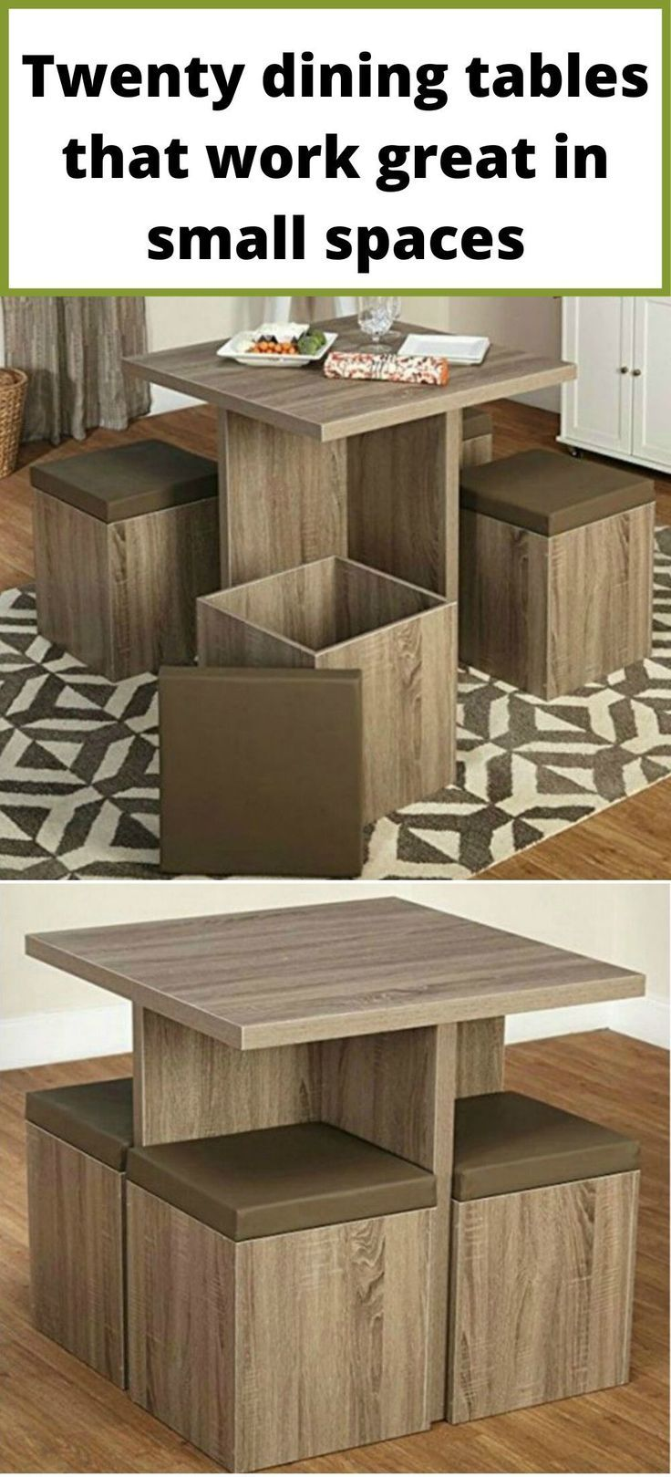 Twenty Dining Tables That Work Great In Small Spaces Living In A Shoebox Living Room Furniture Styles Furniture Table For Small Space [ 1619 x 736 Pixel ]