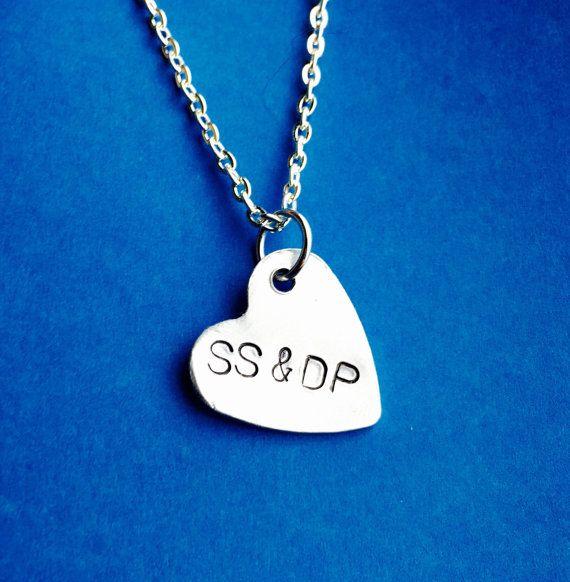 Girlfriend giftHeart necklace Gift for by BeesHandStampedGifts