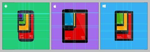 Бесплатный и плоский дизайн с изображением мобильных устройств в PSD