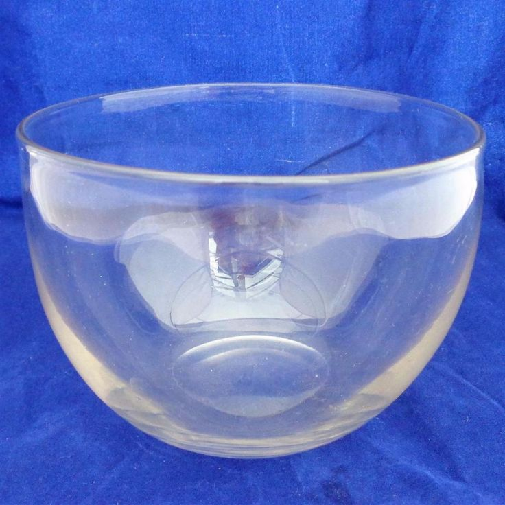 Antique Plain Clear Blown Glass Mixing Bowl From Tea Caddy 4 1/2 in Dia 19th C #Victorian