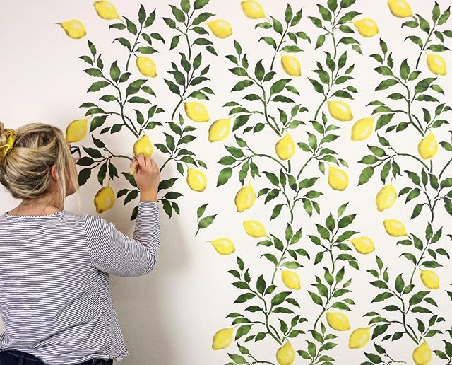 Diy Painted And Stenciled Accent Wall Makeover Ideas On A Budget