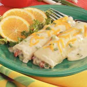 White Chicken Enchiladas. Love these!!
