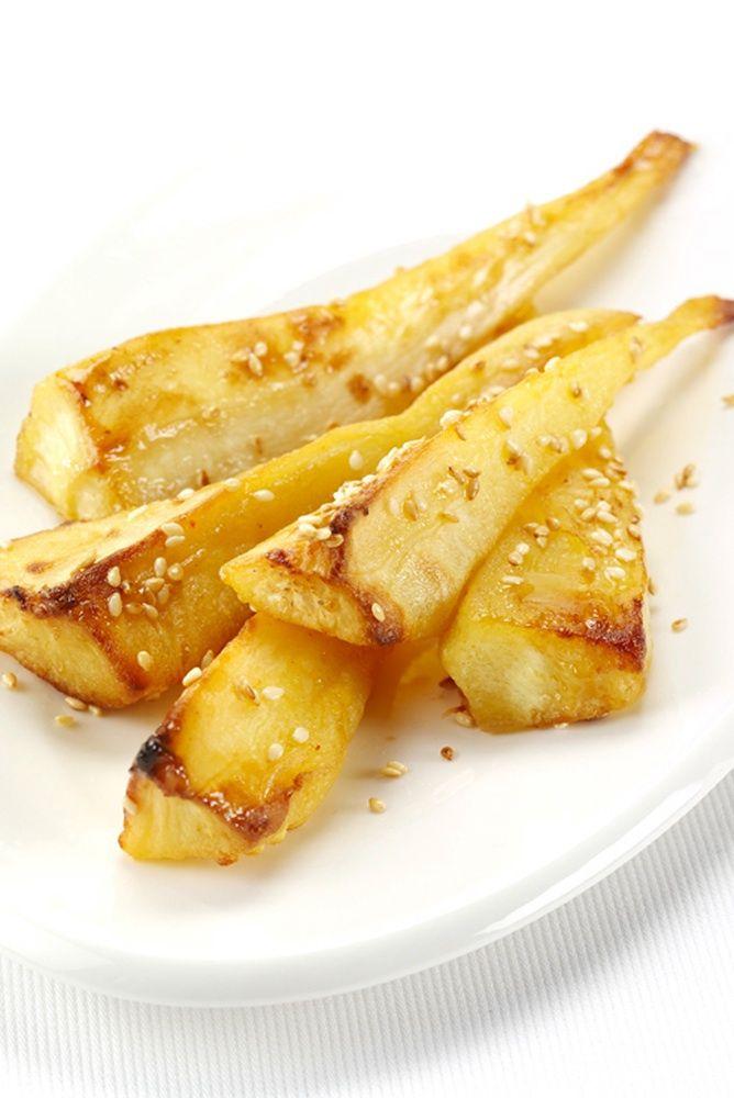 Maple Glazed Roast Parsnips Recipe