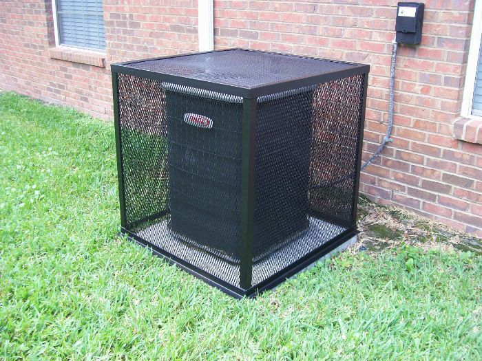 Air Conditioning In Fresno How To Stop Ac Thieves Wrought Iron Fences Air Conditioner Hide Iron Fence