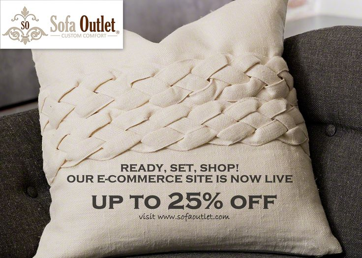 Ready, Set, Shop! Head over to www.sofaoutlet.com to shop beautiful home decor.