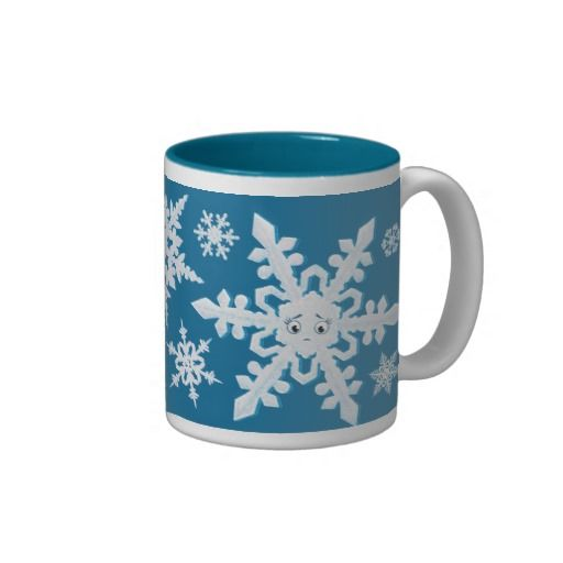 Snowflakes Mug Two-Tone Mug ~ Read more about The Lonely Snowflake http://www.frogburps.com/snowflake_sq #childrensbooks   #frogburps #thelonelysnowflake #mug #childrensillustration