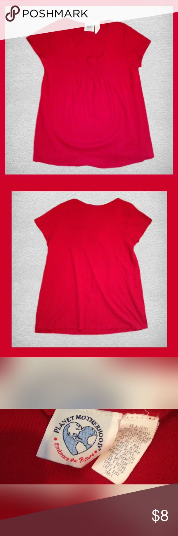 ONE DAY SALEPLANET MOTHERHOOD Shirt Gently used PLANET MOTHERHOOD short sleeve MATERNITY shirt; Size small. *****BUNDLE AND SAVE ***** Planet Motherhood Tops Tees - Short Sleeve