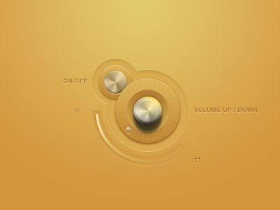Volume And Power UI | Designer: Mike Beecham