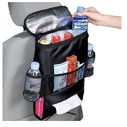 MBaby Upgraded Black Car Seat Organizer Multipocket Travel Storage Bag Insulated Car Seat Back Drinks Holder Cooler Hot Wrap Bottle Bag with Mesh Pockets *** Want to know more, click on the image.-It is an affiliate link to Amazon. #BabyCarSeat